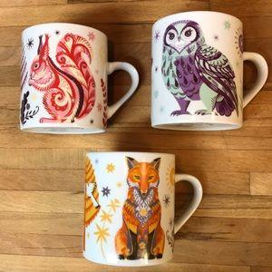 Magpie Sarah Young Animal mugs (set of 3)